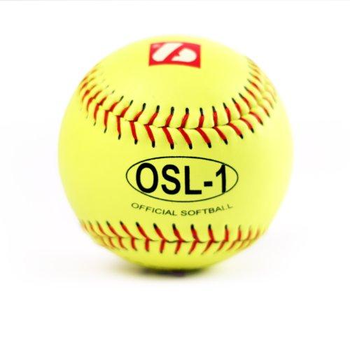 OSL-1 high competition softball ball, size 12, white, 1 dz by Barnett