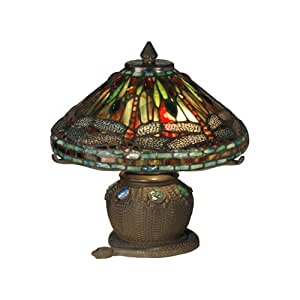 Dale Tiffany 101205 Dragonfly Mini Table Lamp Antique