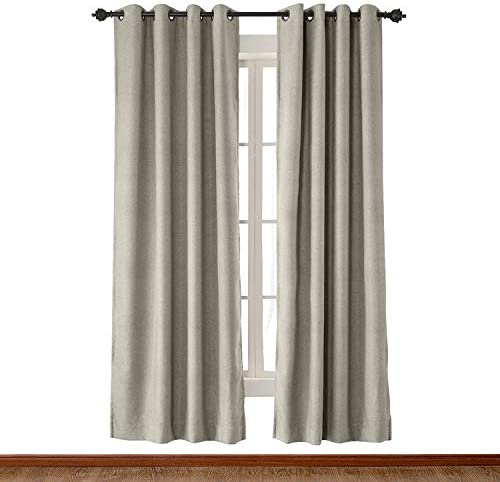 cololeaf Large Size 120″ W x 102″ L Heavyweight Luxury Faux Linen Curtain