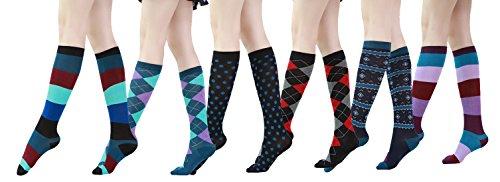 Womens Patterned Cotton Trouser Socks