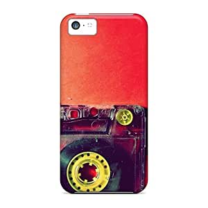 Sanp On Case Cover Protector For Iphone 5c (love Music Cassette)