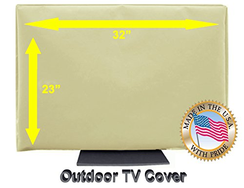 Outdoor TV Cover (32'-38') Light Beige