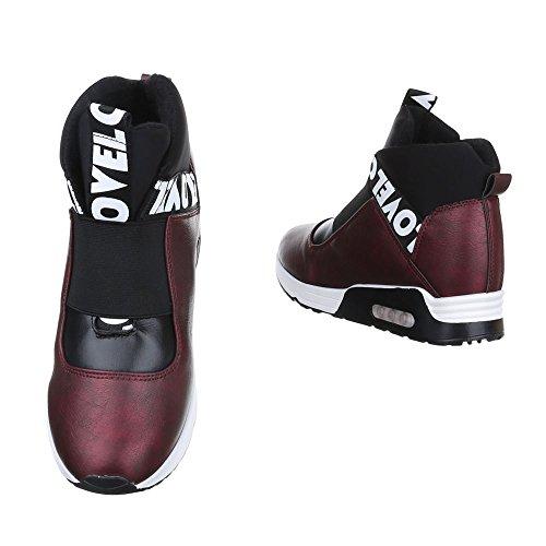 Ital-Design - Zapatillas altas Mujer burdeos