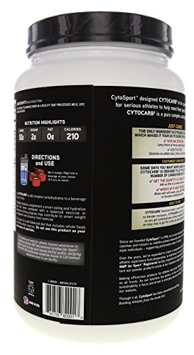 CytoSport CytoCarb 2, 100% Complex Carbohydrate Powder, 1.98 lbs. (Pack of 4)