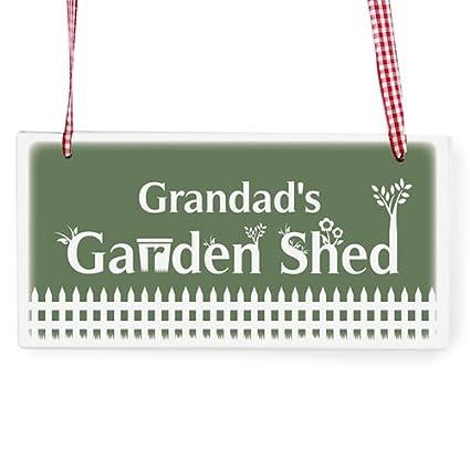 Diseño con texto en inglés personalizada de forma - caseta de jardín - diseño