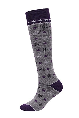 Andorra Women's Air Cushioned Merino Wool Full Terry Ski Socks, 8-11.5