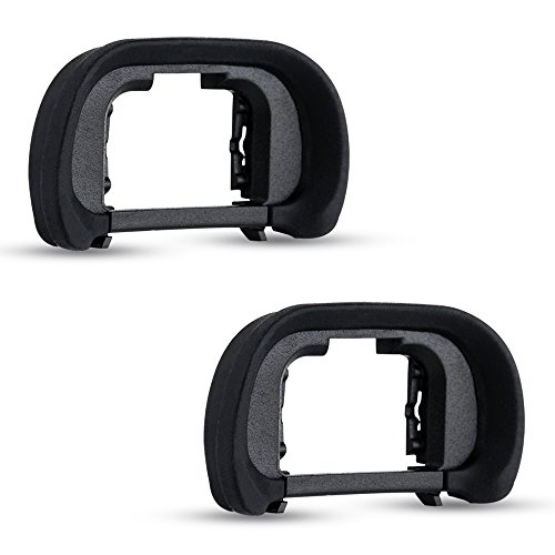 (2 Pack JJC FDA-EP18 Eyecup Eyepiece Eye Cup for Sony Alpha A7 A7II A7III A7R A7RII A7RIII A7S A7SII A9 A99II A58 and More Sony Cameras,Replaces Sony FDA-EP18 Eyecup)