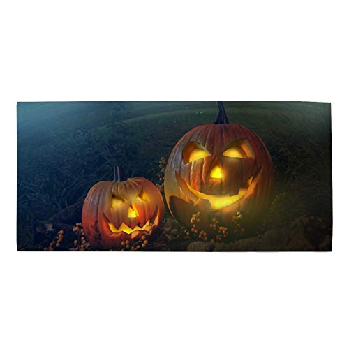 Washcloths Printed Design, Scary Halloween Pumpkin Hair Towel Soft Face Towel Perfect Gifts 11.8 X 27.5 inch ()