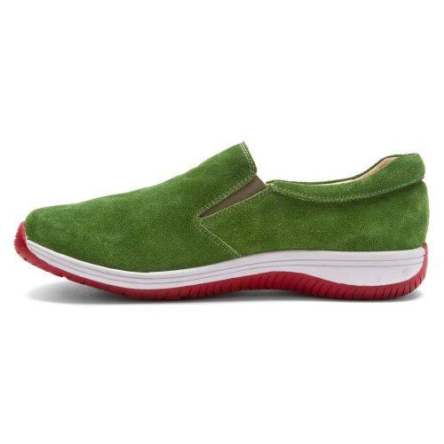 Alegria Mens Aaron Slip-on Green Mocka