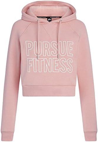 Pursue Fitness Essential Crop Sudadera con Capucha, Mujer