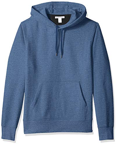 Amazon Essentials Men's Hooded Fleece Sweatshirt, Blue Heather, Large (Best Mens Hoodie Brands)