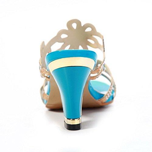 BalaMasa Bleu Bleu Chaussons femme BalaMasa pour pour BalaMasa Chaussons femme Chaussons rwIxW1rBPq