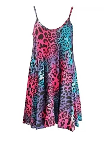 Imprimé Leopard Unique Sans Femme 21fashion Manche Color Multi Robe Taille v5gqn7T