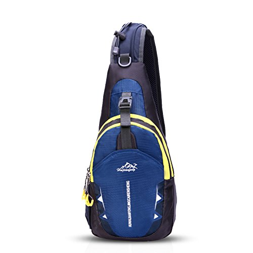 Unisexs Travel Bag Backpack Polyester Outdoor Backpack (Navy blue) - 1