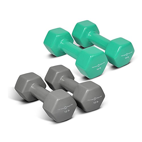 Fitness Republic Vinyl Hex Dumbbell Combo (10 & 12lb)