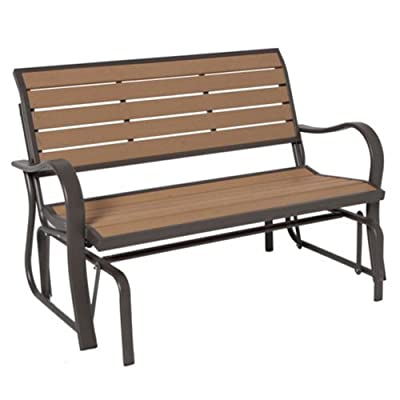 Lifetime Products Wood Grain Glider Bench 60055