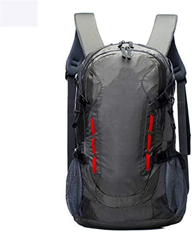 40Lアウトドアスポーツハイキングバックパック、 ナイロン布、 ロッククライミング/観光、 男性と女性,Gray