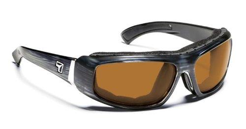 7 Eye Bali Sunglasses, Airlock Shield Gray Tortoise Frame, Sharp View Copper Lens 183742