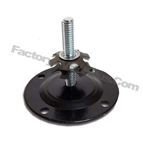 ToughGrade Round Black Pad with Bolt and Insert Nut