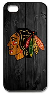 LZHCASE Personalized Protective Case For Ipod Touch 4 Cover NHL Chicago Blackhawks in Wood Background