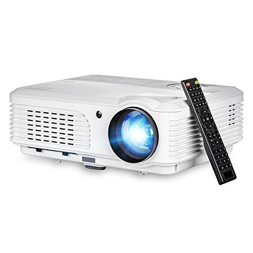 EUG Portable HDMI Home Theater Projector, Digital Beamers Support HD 1080p 720p USB, for Home Cinema Theater Party Video Games TV Laptop iPad iPhone Android Smartphone, Movie Proyector with Remote by EUG