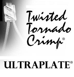 Beads Tornado Crimp (TWISTED TORNADO CRIMP 99.9% Pure Silver ULTRAPLATE .019 3mm (Pk 50))