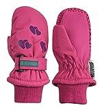 N'Ice Caps Kids Thinsulate Waterproof Reflector Winter Snow Ski Mittens (Fuchsia/Purple Reflector Hearts, 5-7 Years)