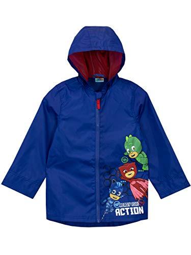 PJ Masks Boys' Gekko Owlette and Catboy Raincoat Size 6 Blue ()