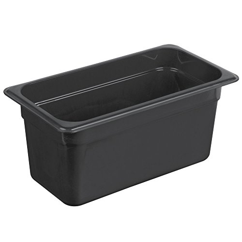 Cambro 36HP771 H Pan High Heat Food Pan, 1/3 Size, in Black (Case of 6) 6