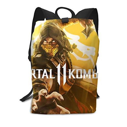 Mortal Kombat Laptop Backpack 3D Printed Fashion Bookbags Fits for Men Women for Travel/School/College]()