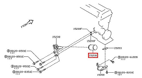 Infiniti Genuine Lubricating System Oil Filter Assy 15208-65F0E QX60 HYBRID