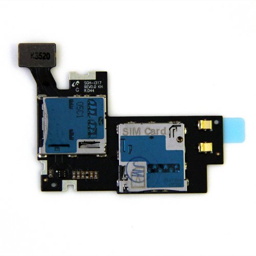 g Galaxy Note 2 II SGH-i317 Sim Tray SD Card Reader Card Holder Memory Tray Slot Flex Cable Replacement Part USA Seller ()