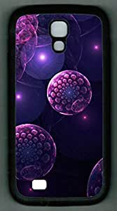 For Case HTC One M7 Cover PC Supple Shell Case Purple Virus Black Skin by Sallylotus