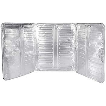 BESTOMZ Oil Splash Guard Aluminum Foil Gas Stove Shield Oil Splatter Screen Kitchen Tool