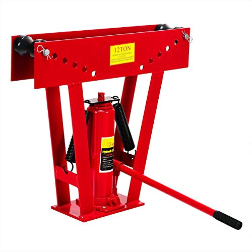 12 Ton Heavy Duty Hydraulic Pipe Bender Tubing Exhaust Tube Bending Business Industrial Light Equipment Tool Drywall Tools Home Hardware House, Tube, Duct, Casing, Tubing, Gutter, Exhaust Pipe, Bar from Lek Store