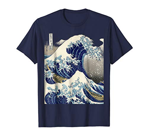 (vintage Japanese tattoo art kanagawa the great wave t shirt)