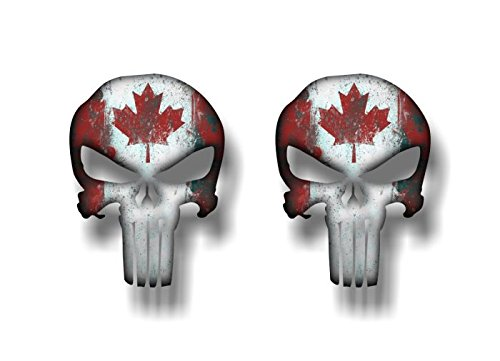 PUNISHER Canada Vinyl Graphic Decals American Sniper Canadian - Vinyl decal stickers canada