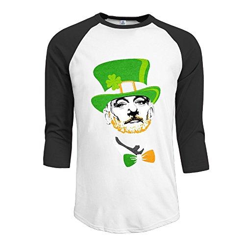 HGL Men's Bill Murray Irish Notre Dame University Tri-Blend Baseball T Shirt Raglan Size M Color (Dame Edna Costumes)