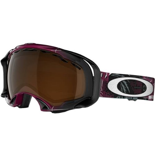 Oakley Eero Ettala Splice Aperture Men's Special Editions Signature Series Ski Snowmobile Goggles Eyewear - Magenta/Black Iridium / One Size Fits - Specials Oakley