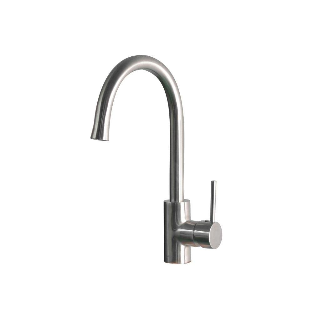 Belle Foret SS-WHLX78572 Mono Block Single-Handle Bar Faucet in Stainless Steel by Belle Foret