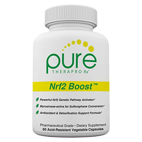 Nrf2 Boost - 60 Veggie Capsules | Oxidative Stress Formula | NRF-2 Activator with Sulforaphane | Contains: truebroc, Curcumin, Green Tea (EGCG), trans-Pterostilbene (pTeroPure), Myrosinase & BioPerine