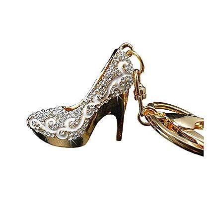 Amazon.com  Bling Car Decor Rhinestone Bling High Heel Shoe Keychain ... a2476eaa4dcf