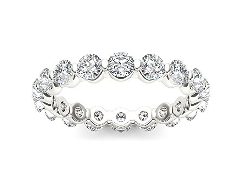 - De Couer 14k White Gold 2ct TDW Diamond Eternity Wedding Band (I-J,I2) (6)