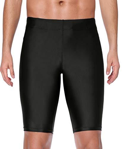 ATTRACO Mens Swim Jammer Tight Splice Sports Compression Swimsuit Jammer Shorts