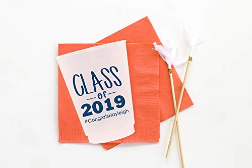 2019 Graduation Party Cups - Personalized Plastic Cups - Class of 2019 Graduation Party -
