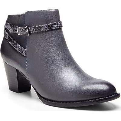 VIONIC Women's Upright Upton Ankle Boot Dark Grey Boot