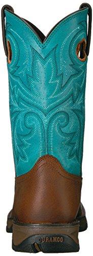 Durango Femmes Dwrd016 Western Boot Marron / Turquoise