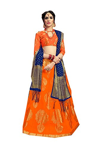 Da Facioun Concepteur Indien Partywear Lehenga Traditionnel Ethnique Choli Orange 5