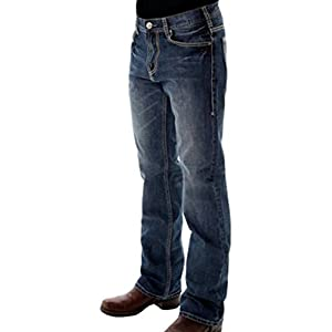 B. Tuff Western Denim Jeans Mens Hooah Barbed Wire Medium Wash MHOOAH