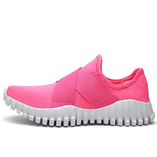 On 7 US Hot Womens M Fashion Slip 5 Running Flex Lightweight Comfort B Shoes Walking Sneakers Sport Tanly Pink 64U1U